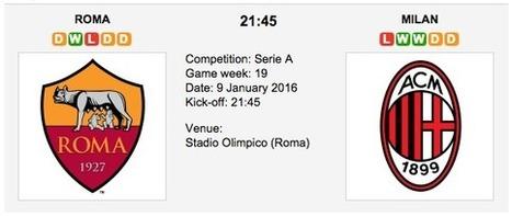 AS Roma vs. AC Milan -  Serie A Preview 2016 | Ponturi pariuri | Scoop.it