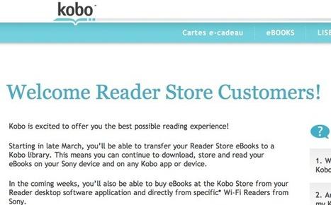 Kobo à bras ouverts : Bienvenue aux anciens clients du Reader Store | Le livre numérique est-il une tablette comme les autres | Scoop.it
