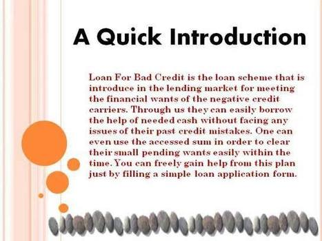 Have The Support Of Extra Sum With Us At Loan For Bad Credit | Long Term Loans - No Credit Check Loans - Long Term Payday Loans | Scoop.it