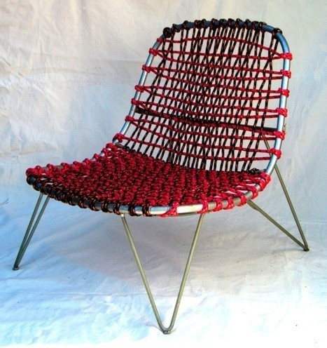 Upcycled rattan chair using retired climbing rope - IKEA Hackers | Recyclage et récupération | Scoop.it