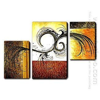 Hand Painted Oil Painting Abstract - Set of 3 -Canvas Sets | Abstract canvas painting set | Scoop.it
