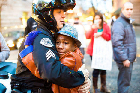 Photo: Police officer and young demonstrator share hug during Ferguson rally in Portland | Radical Compassion | Scoop.it