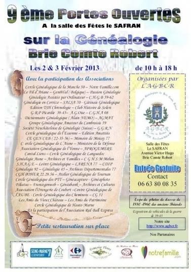 9e Portes ouvertes sur la généalogie à Brie-Comte-Robert (77) | Rhit Genealogie | Scoop.it