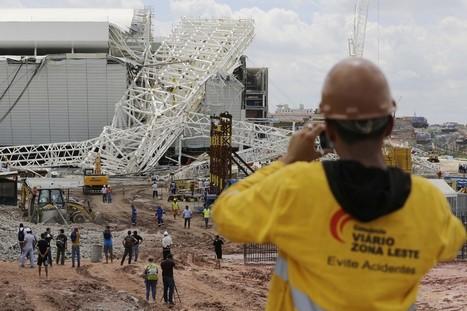 27/11 Derrumbe en estadio mundialista en Sao Paulo Brasil deja tres muertos (FOTOS) | asunciononline.com | Scoop.it