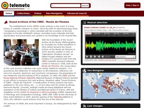 Telemeta : an open web audio CMS | Leadership, Trust and e-Learning | Scoop.it
