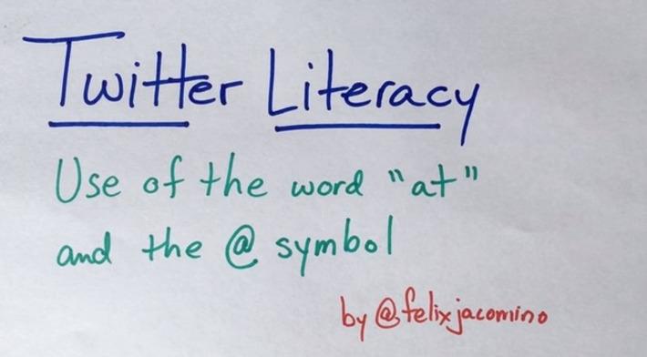 Edu-Curator: Twittertaal: spreek je '@naam' uit als 'at naam' of gewoon als 'naam'? | Educatief Internet - Gespot op 't Web | Scoop.it