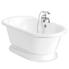 Shop American Bath Factory 60-in x 32-in Nobb Hill White Round Pedestal Bathtub with Center Drain at Lowes.com | Ashley's Interior Design ideas | Scoop.it