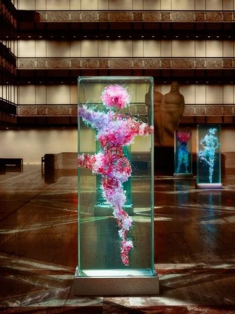 Dustin Yellin's glass installations for New York City Ballet's Art Series - HGIssue | glass sculpture | Scoop.it