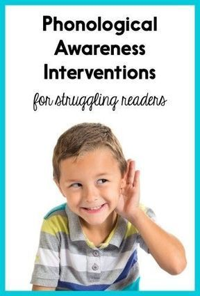 Phonological Awareness Interventions for Struggling Readers | Phonological Awareness and Rapid Naming | Scoop.it
