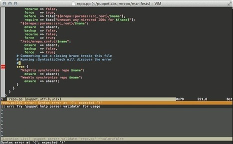 Use vim at its best to edit your Puppet manifests | Linux and Open Source | Scoop.it
