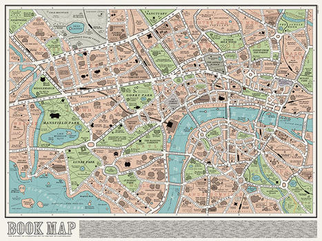 Explore the world of literary London with an exquisite book map | marque-page | Scoop.it