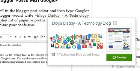 Mention People In Your Blogger Blog Posts With Google+ - Blogs Daddy | Blogger Tricks, Blog Templates, Widgets | Scoop.it