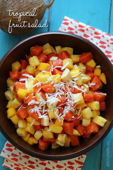 Tropical Fruit Salad Recipe   Skinnytaste   Health   Scoop.it