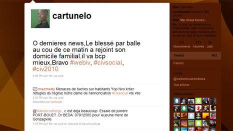 Les habitants s'organisent sur Twitter - côte d'ivoire - Actualités internationales - FRANCE 2 : toute les informations internationales en direct - France 2 | Actualités Afrique | Scoop.it