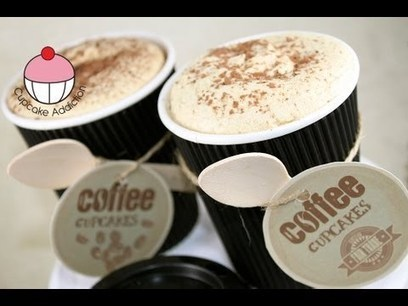 Cupcakes! Make Espresso Coffee Cafe Latte CUP-Cakes! A Cappuccino Addiction How To Tutorial | Leivontaohjeita | Scoop.it
