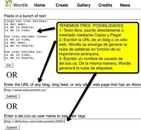 Generando nubes de palabras con Wordle | Nuevas tecnologías aplicadas a la educación | Educa con TIC | WEB 2.0 TOOLS mejores herramientas web para crear recursos didácticos | Scoop.it