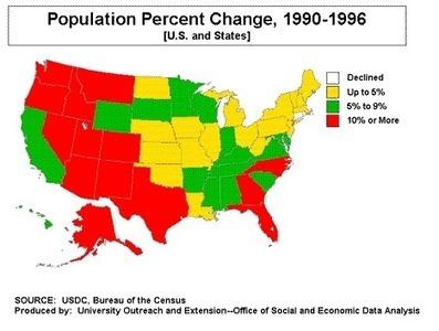 US Population Change   Special Purpose Maps   Scoop.it
