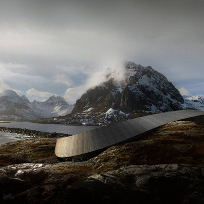 Snøhetta reveals snake-like hotel for a Norwegian island | PROYECTO ESPACIOS | Scoop.it