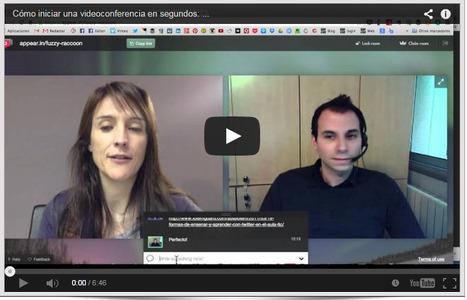 Cómo iniciar una videoconferencia en segundos con Appear.in   Las TIC en el aula de ELE   Scoop.it