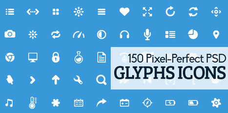 Glyphs Icons in PSD - free download | Icons | Graphic Design Junction | Webdesign | Scoop.it