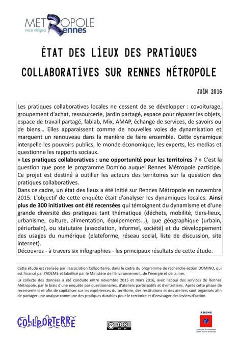 Panorama des pratiques COLLABORATIVES sur Rennes Métropole | actions de concertation citoyenne | Scoop.it