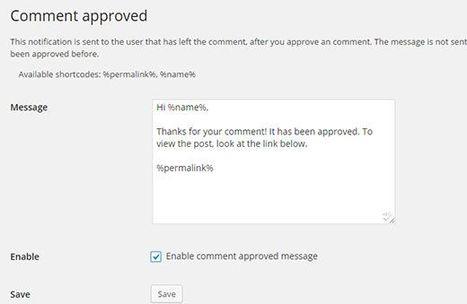 Avertir un lecteur que son commentaire sur WordPress a été accepté | Time to Learn | Scoop.it
