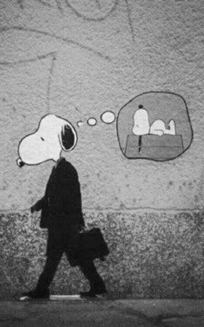 Oddly depressing Snoopy Street Art. | SILLY STREET | Scoop.it