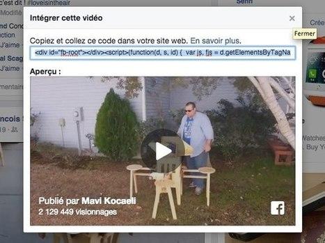 Vous pouvez intégrer des vidéos Facebook facilement sur votre site Web (Embed) | Geeks | Scoop.it