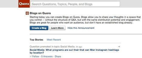 The New Quora Blogging Platform [GUIDE] | Business 2 Community | Digital-News on Scoop.it today | Scoop.it