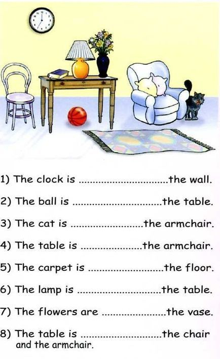 Prepositions of Place Exercises With Pictures   Articles   DetailENGLISH   Prepositions around the House   Scoop.it