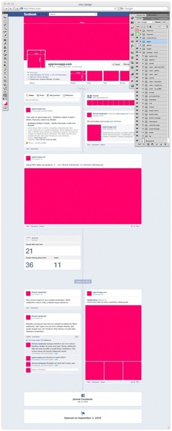 Un modèle photoshop de la Fanpage de Facebook pour vous aider à préparer vos visuels - Journal Facebook   How to be a Community Manager ?   Scoop.it