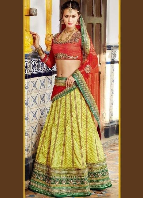 Lehenga Saree Online Cbazaar Wedding Lehenga | clothing and fashion new designs | Scoop.it