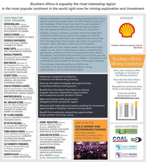 SOUTHERN AFRICA MINING SUMMIT 2013 September 5th & 6th, Cape Town | ALL EVENTS - CARMEN ADELL | Scoop.it