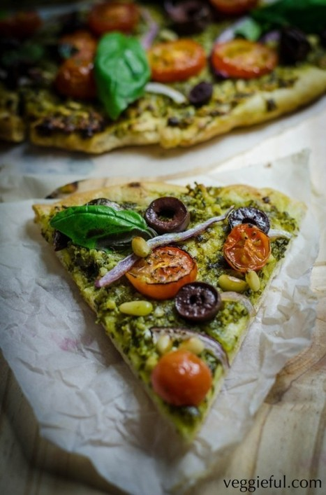 Vegan Pesto Pizza - The Vegan Food Blog | How to Eat Vegan in College (Cheap + Easy Transitions) | Scoop.it