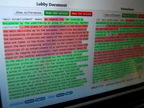 LobbyPlag: new data privacy laws | GRNET - ΕΔΕΤ | Scoop.it