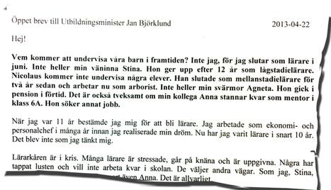 Öppet brev till Jan Björklund | Lärarnas Nyheter | Folkbildning på nätet | Scoop.it