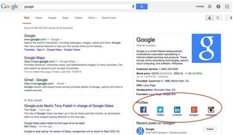 Comment Ajouter vos Profils Sociaux sur Google? | Webdesign | Scoop.it