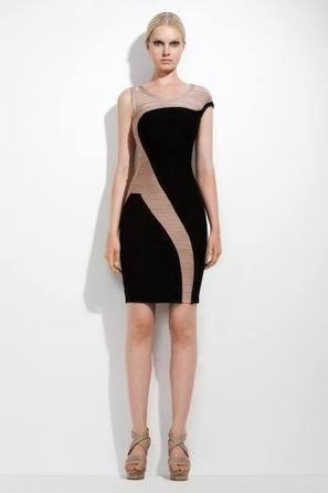 Herve Leger Long Sleeve Lace Cocktail Black Dress   where to find hot herve leger dresses shop   Scoop.it