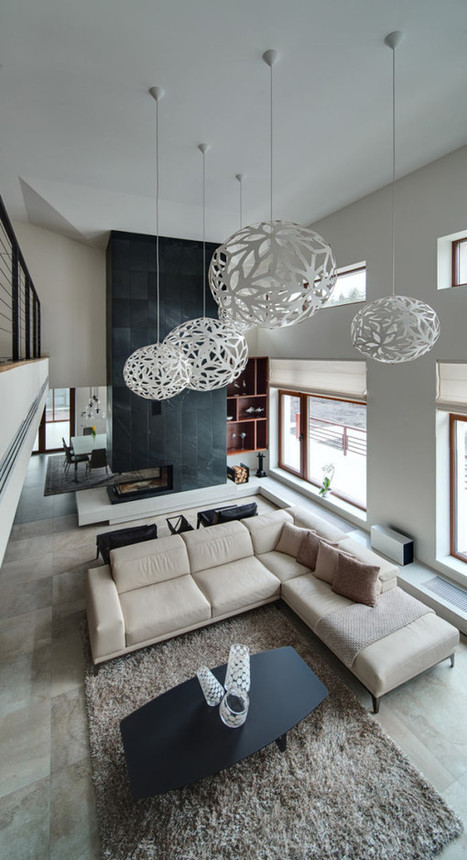 Spacious Home with a Warm Interior in Kiev - Design Milk | Home and Garden | Scoop.it