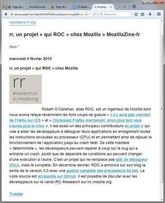 Le mode lecture arrive dans Firefox pour ordinateur » MozillaZine-fr   Ressources Ecole   Scoop.it
