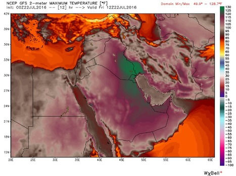 Two Middle East locations hit 129 degrees, hottest ever in Eastern Hemisphere, maybe the world | Sustain Our Earth | Scoop.it
