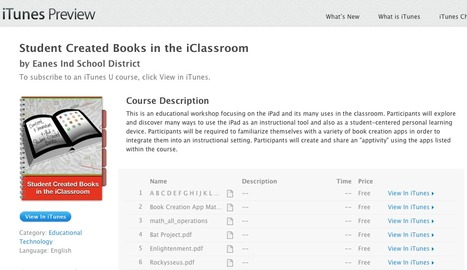 Student Created Books in the iClassroom | Apps for Learning | Scoop.it
