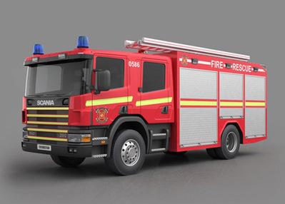 Camion pompiers 3D   3D Library   Scoop.it