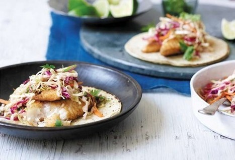 Fish Tacos with Creamy Chipotle Cabbage Slaw from Leite's Culinaria | johnsons kitchen | Scoop.it
