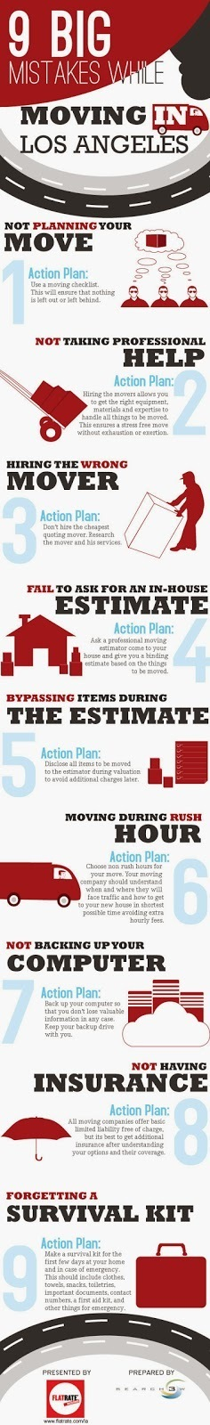 Infographic: 9 Big Mistakes While Moving In Los Angele   Flat Rate   Scoop.it