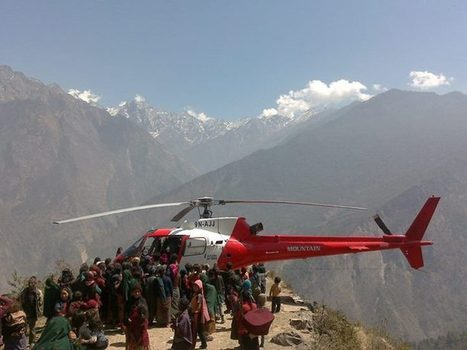 9N-AJJ at a stoned helipad North of Gurkha to deliver medicines for a victim of an unknown disease. | Heli Daily | Scoop.it