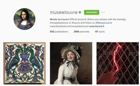 Top 40 des musées et monuments français sur facebook, twitter et instagram (3 février 2016): l'Orangerie et le Grand Palais en forte progression !   E-tourisme et communication   Scoop.it
