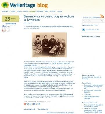 MyHeritage : Notre blog francophone fête son 3ème anniversaire ! - MyHeritage.fr - Blog francophone   Rhit Genealogie   Scoop.it
