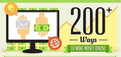 200 Ways to Make Money Online [Infographics] | EmBlogger.com | Scoop.it