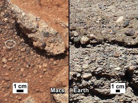 NASA: Rover Finds Further Evidence That A Stream Once Ran Vigorously On Martian Surface | World of Science | Scoop.it
